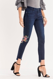 Miss Me Dark-Wash Floral Ankle-Skinny - Front full body