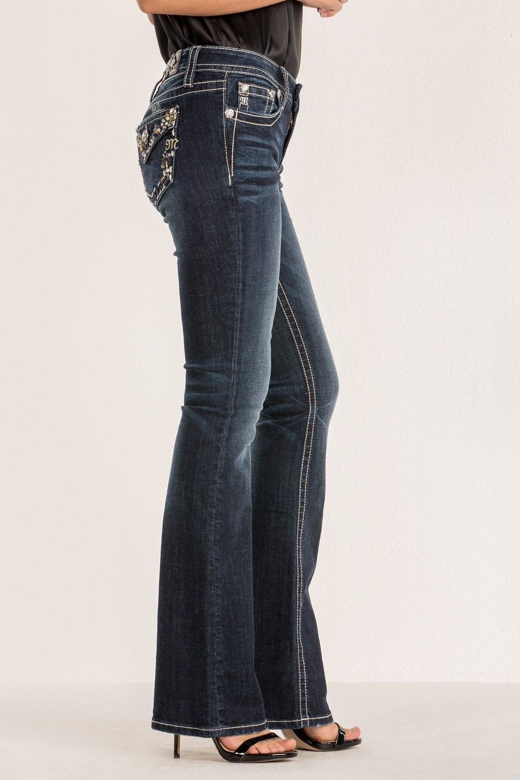 Miss Me Dazzle & Shine Bootcut - Front Full Image