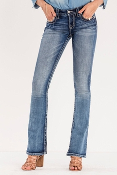 Miss Me Decorative Pocket Jeans - Product List Image