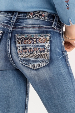 Miss Me Decorative Pocket Jeans - Alternate List Image