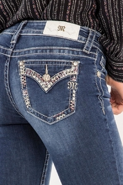 Miss Me Decorative Trim Skinny Jeans - Back cropped