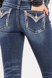 Miss Me Decorative Trim Skinny Jeans - Other