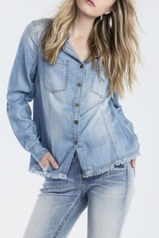Denim Button Top