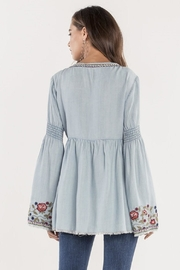 Miss Me Denim Embroidered Top - Side cropped