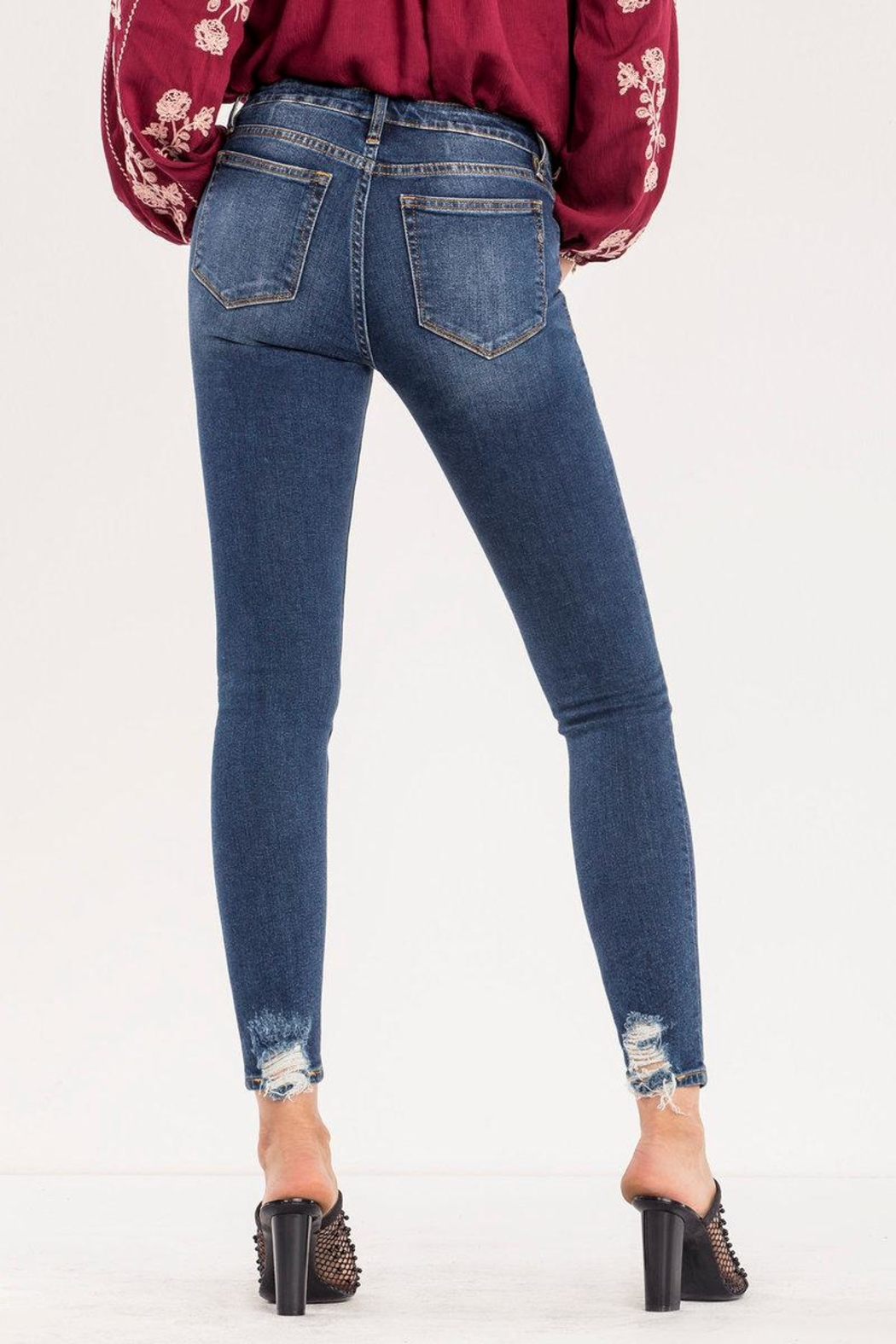 Miss Me Destructed Mid-rise Skinny Jeans - Front Full Image
