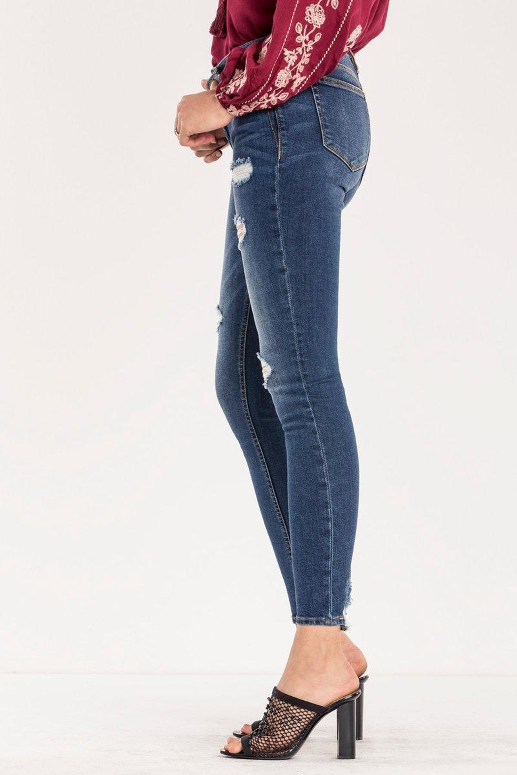 Miss Me Destructed Mid-rise Skinny Jeans - Side Cropped Image