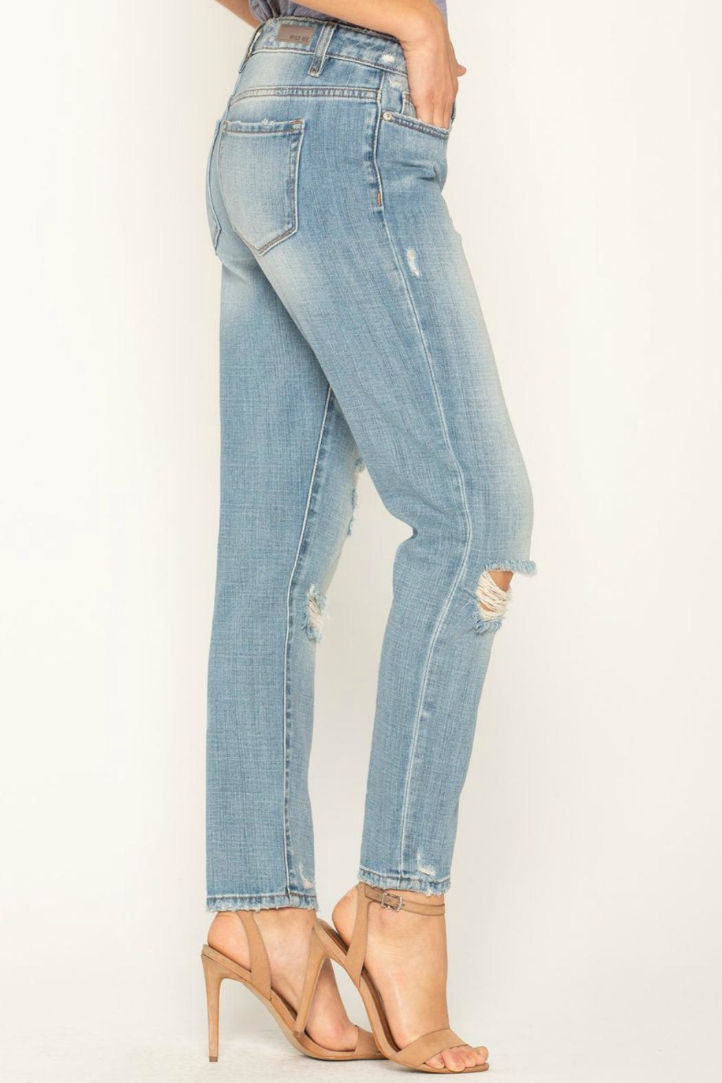 Miss Me Distressed Boyfriend Jean - Side Cropped Image