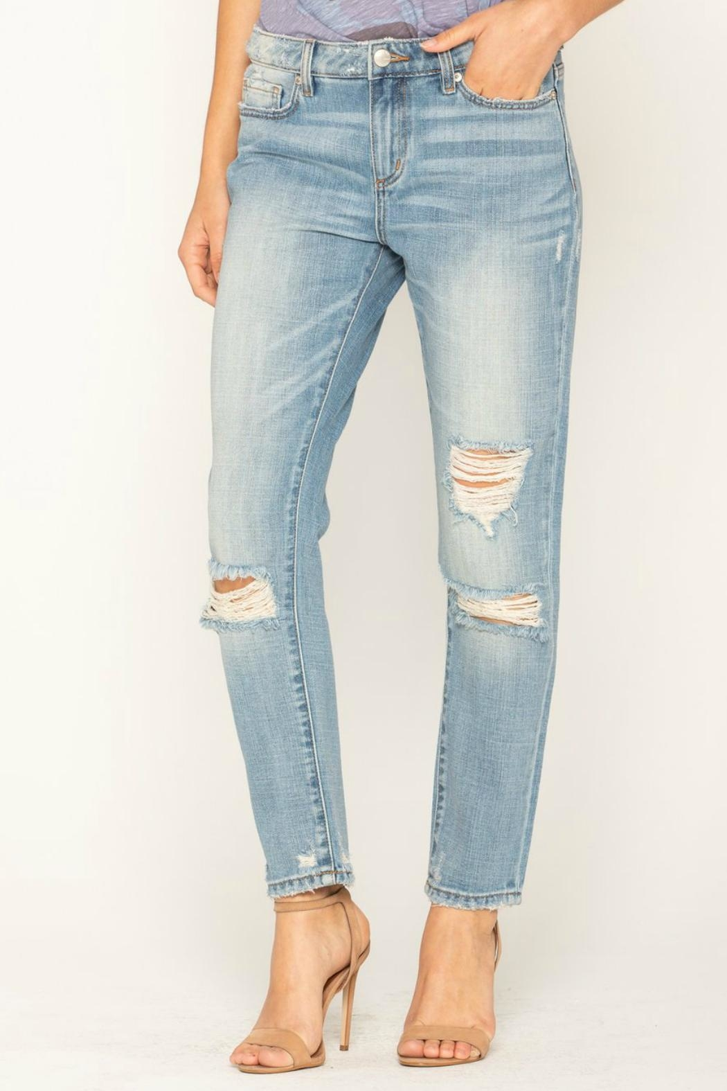 Miss Me Distressed Boyfriend Jean - Front Full Image