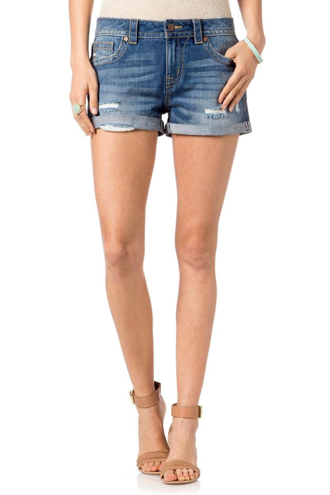Miss Me Distressed Boyfriend Shorts - Main Image