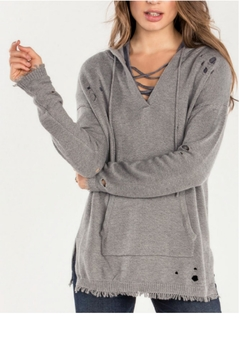 Shoptiques Product:  Distressed Hoodie