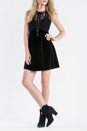Miss Me Elegant Velvet Dress - Product Mini Image