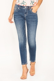 Miss Me Embellished Ankle Skinny - Front full body