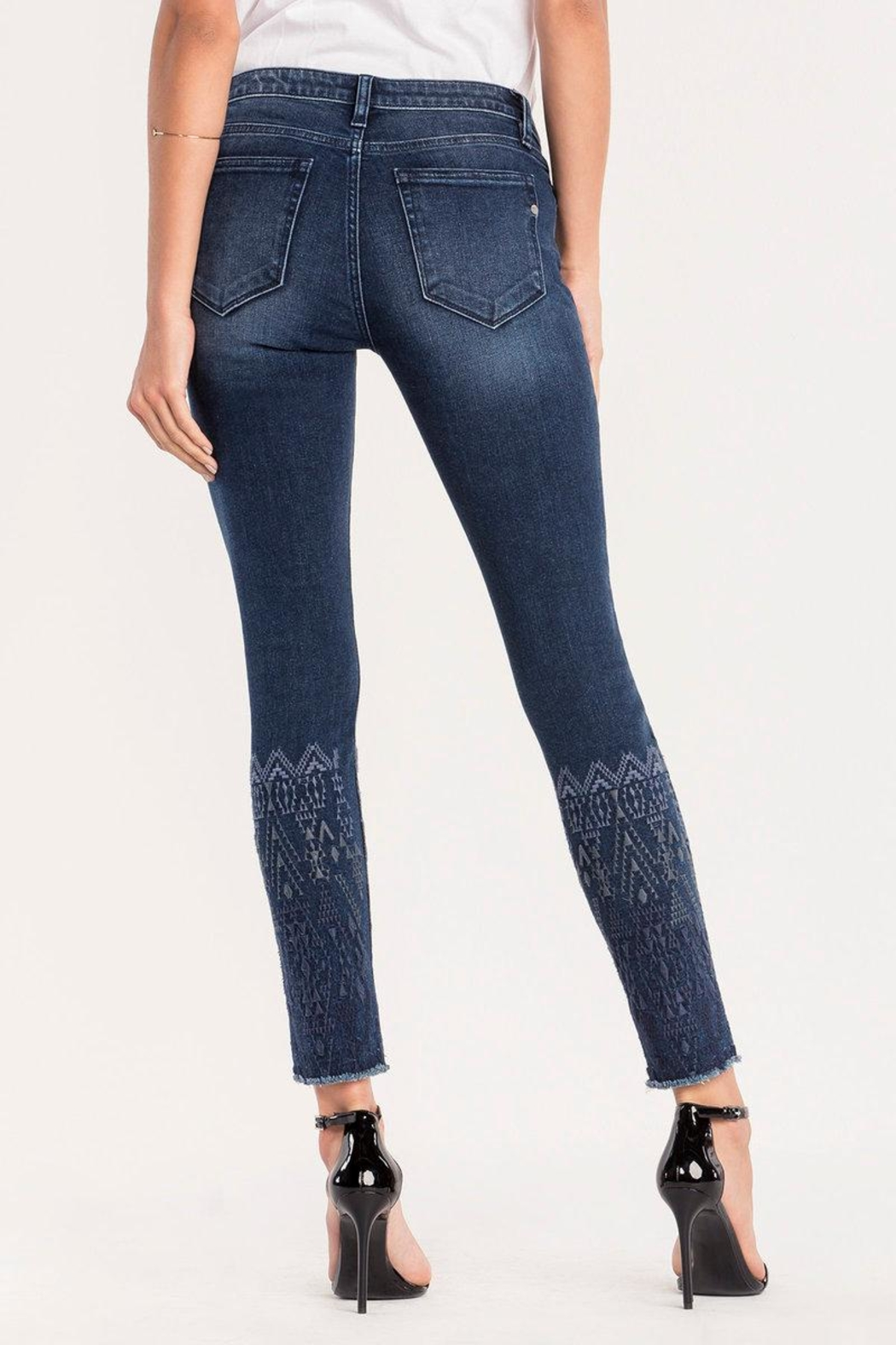 Miss Me Embroidered Ankle Skinny Jeans - Side Cropped Image
