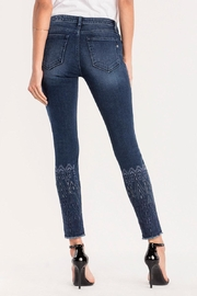 Miss Me Embroidered Ankle Skinny Jeans - Side cropped