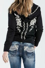Miss Me Embroidered Floral Hoodie - Side cropped