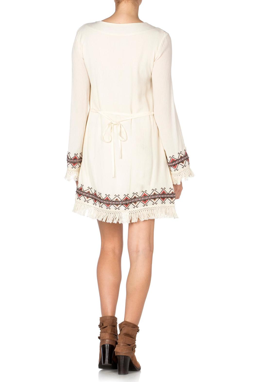 c1728d920c8e Miss Me Embroidered Fringe Dress from New York by Luna — Shoptiques