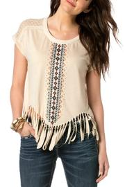 Shoptiques Product: Embroidered Fringe Top