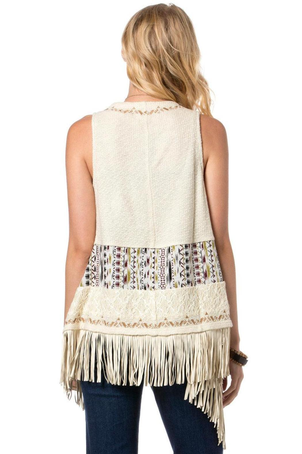 e75e7212871b Miss Me Embroidered Fringe Vest from New York by Luna — Shoptiques