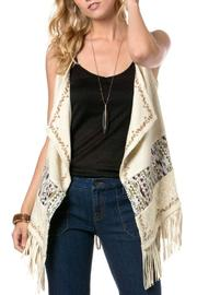 Miss Me Embroidered Fringe Vest - Product Mini Image