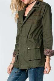 Miss Me Embroidered Olive-Cargo Jacket - Product Mini Image