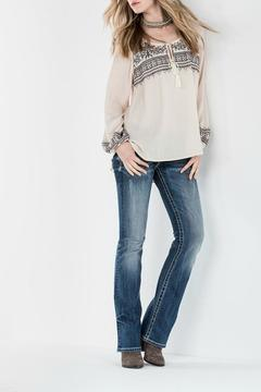 Shoptiques Product: Embroidered Peasant Beige Blouse