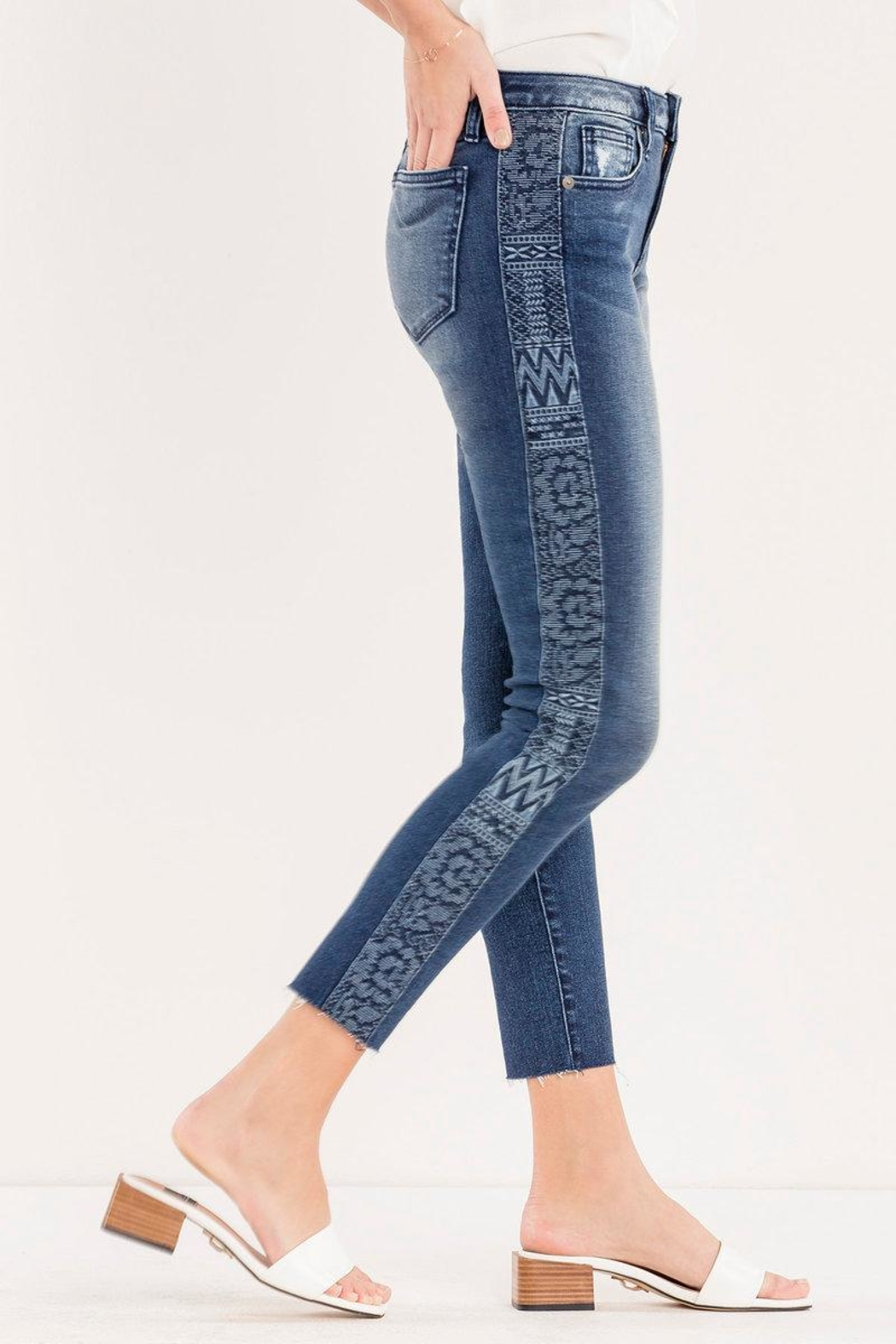 Miss Me Embroidered Side-Seam Ankle-Skinny - Main Image