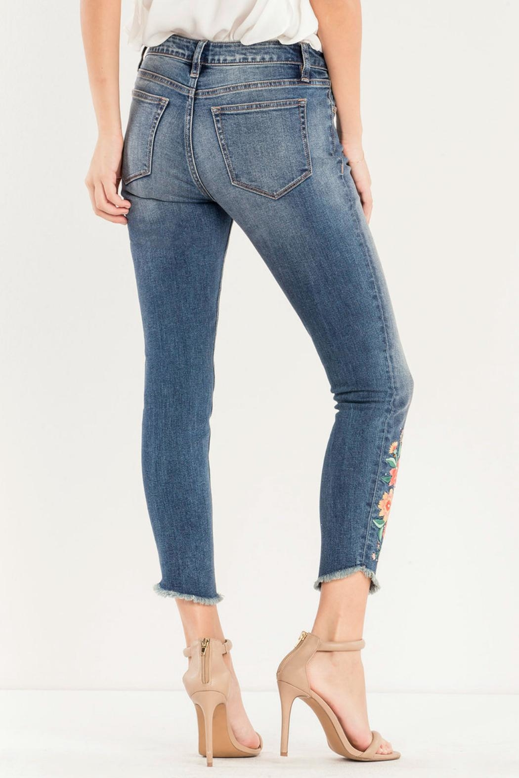 Miss Me Embroidered Skinny Jean - Side Cropped Image