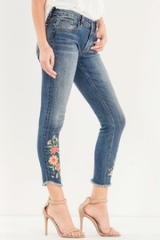 Miss Me Embroidered Skinny Jean - Front full body
