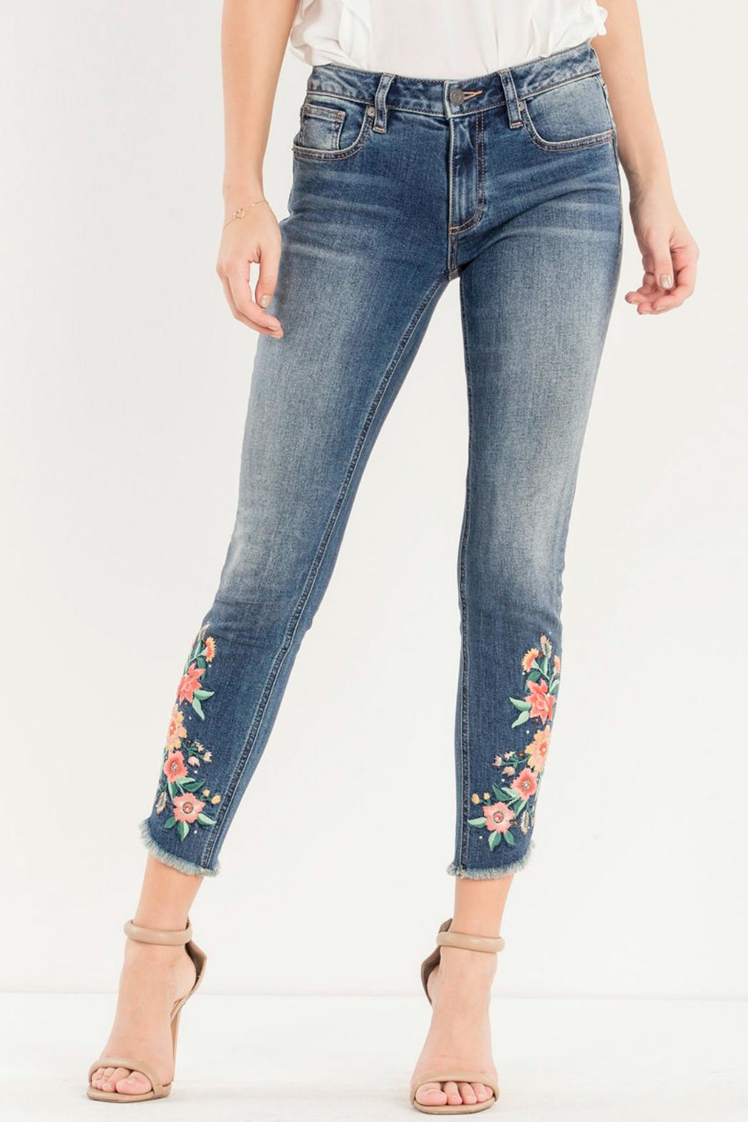 Miss Me Embroidered Skinny Jean - Main Image