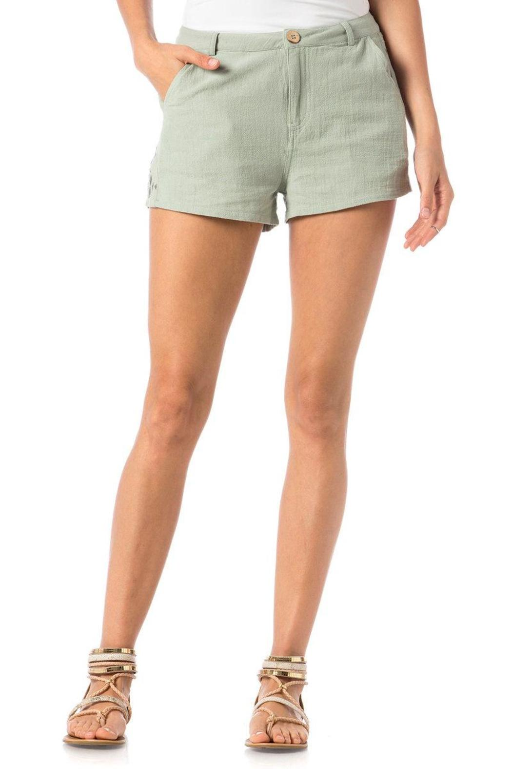 Miss Me Embroidered Trouser Shorts - Main Image