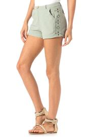 Miss Me Embroidered Trouser Shorts - Front cropped