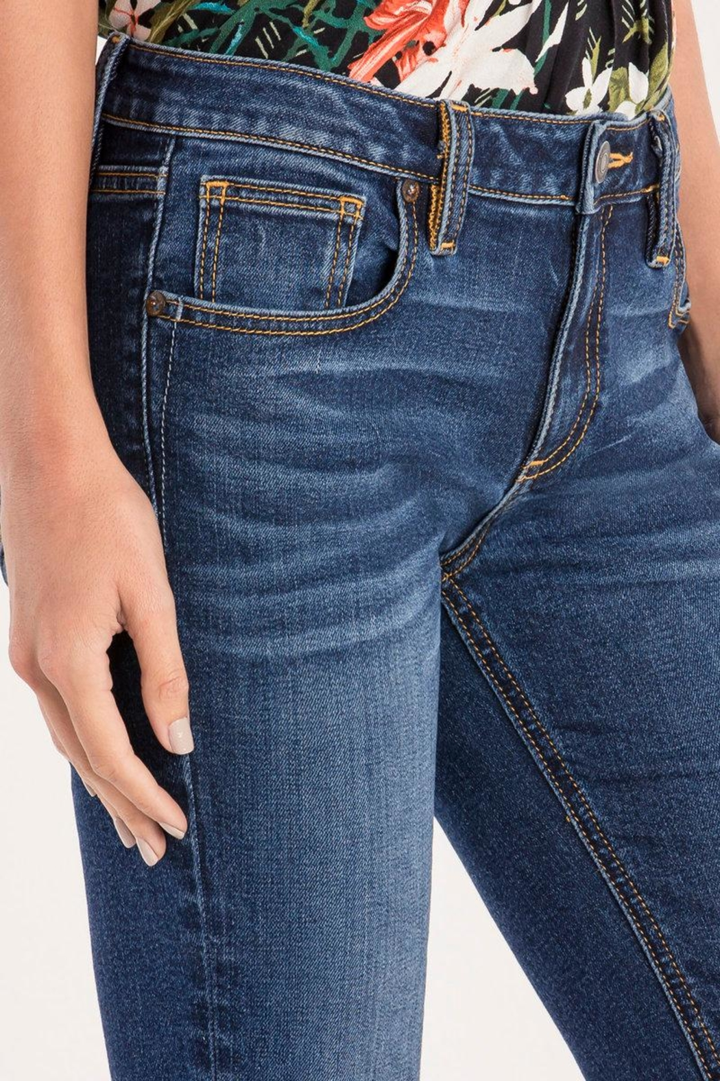 Miss Me Essential Midrise Skinny Jean - Back Cropped Image