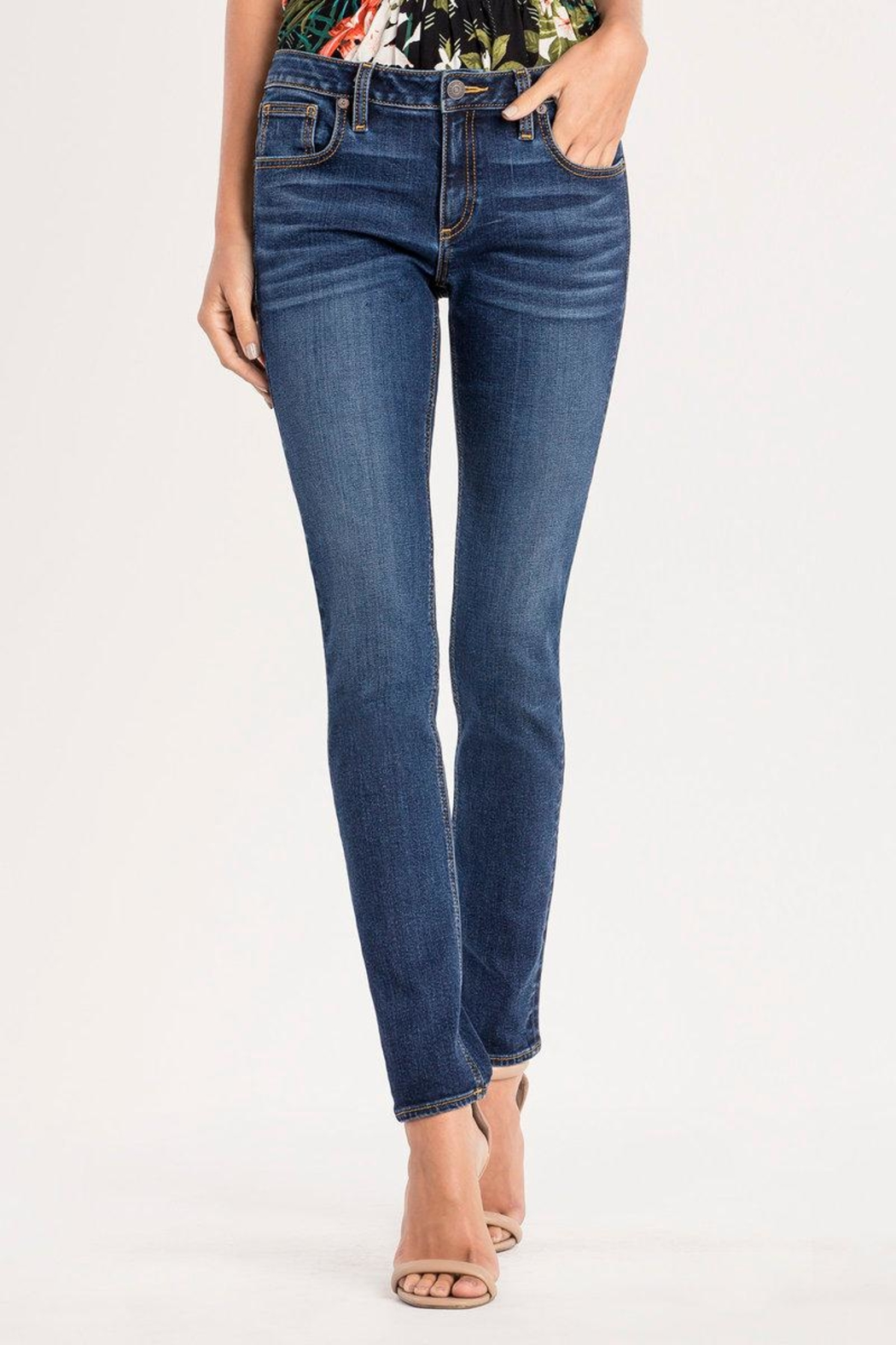 Miss Me Essential Midrise Skinny Jean - Front Cropped Image