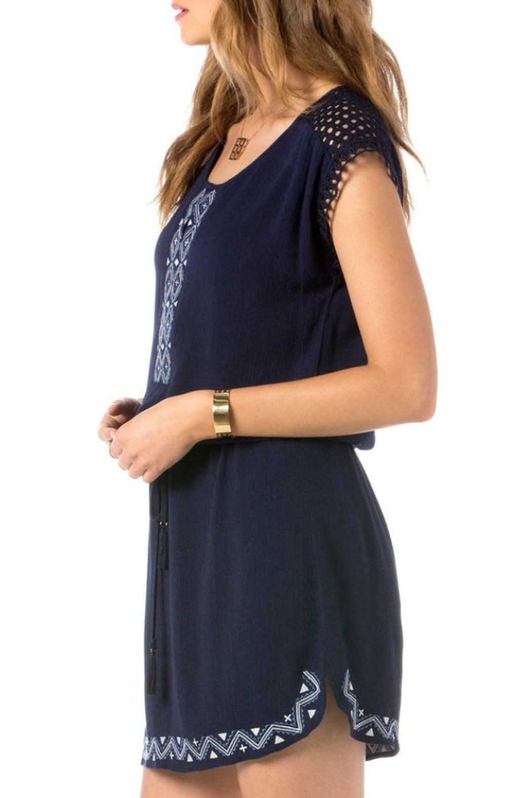 Miss Me Eyelet Embroidered Dress - Side Cropped Image