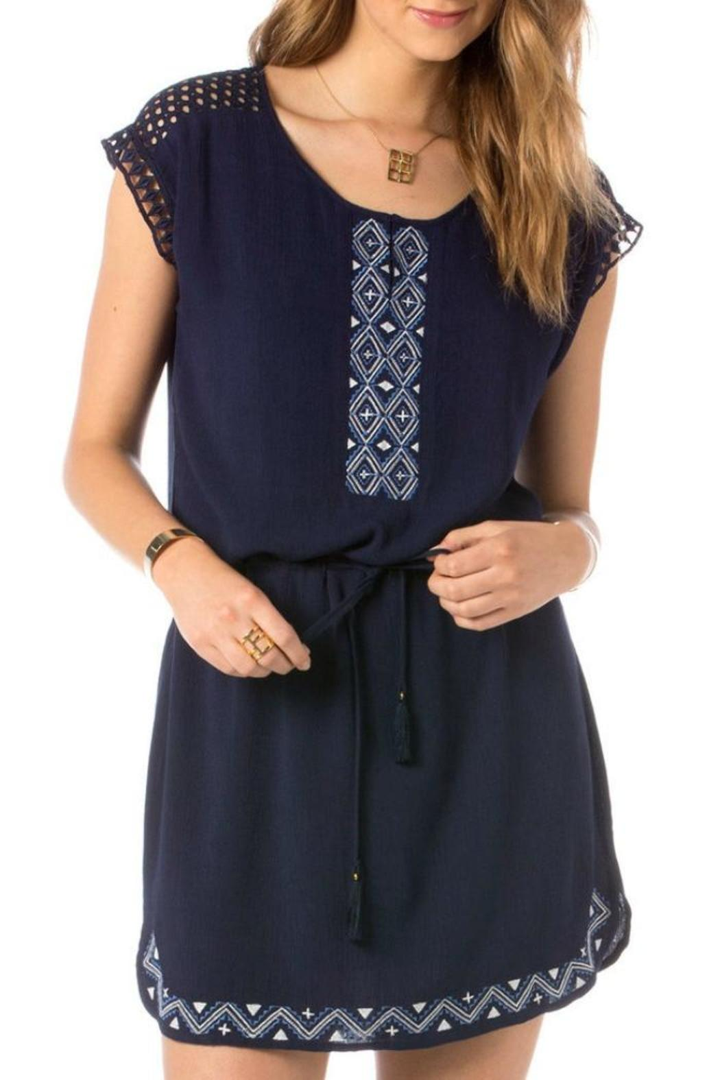 Miss Me Eyelet Embroidered Dress - Main Image