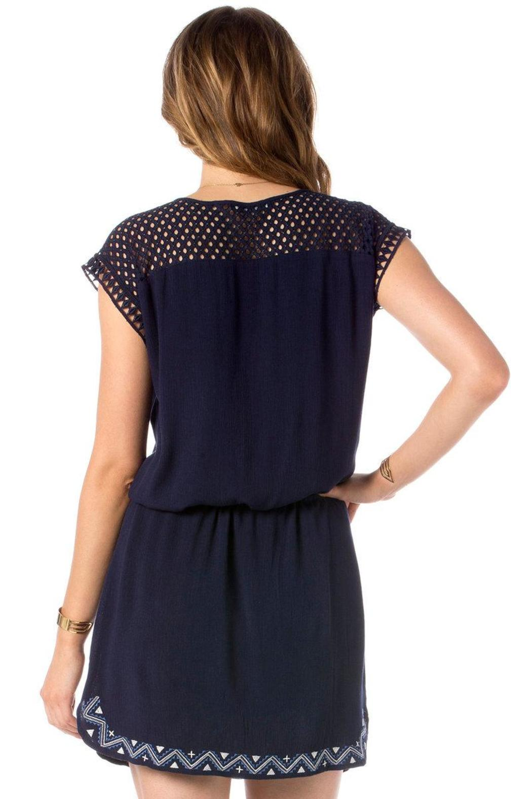 Miss Me Eyelet Embroidered Dress - Front Full Image