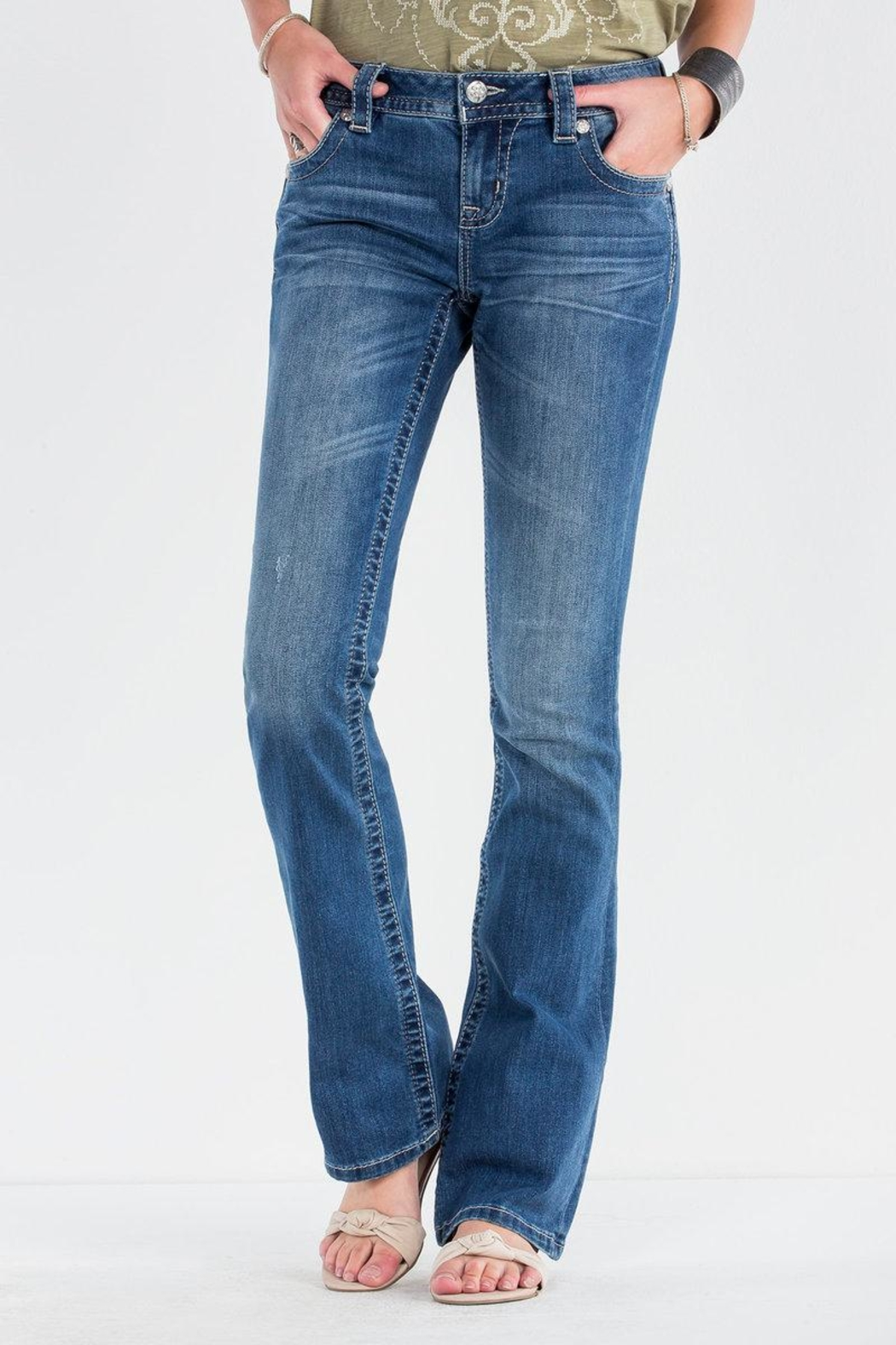 Miss Me Feather Falls Bootcut Jeans - Main Image