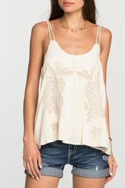 Miss Me Floral Beige Cutout Cami - Product Mini Image