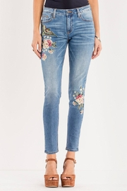 Miss Me Floral-Embroidered Midrise Skinny - Front cropped
