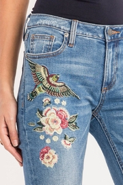 Miss Me Floral-Embroidered Midrise Skinny - Other