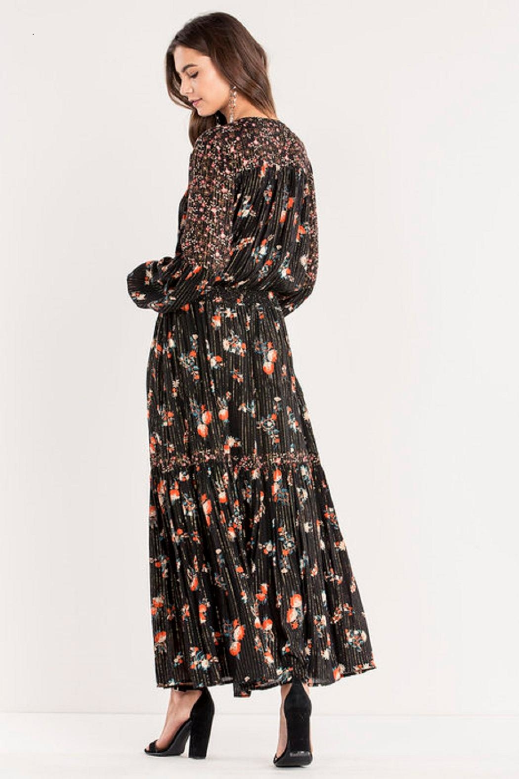 Miss Me Floral Maxi Dress - Side Cropped Image