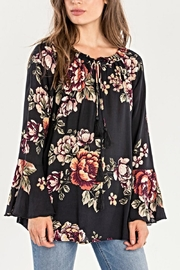 Miss Me Floral Peasant Top - Front cropped