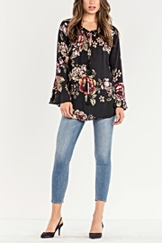 Miss Me Floral Peasant Top - Front full body
