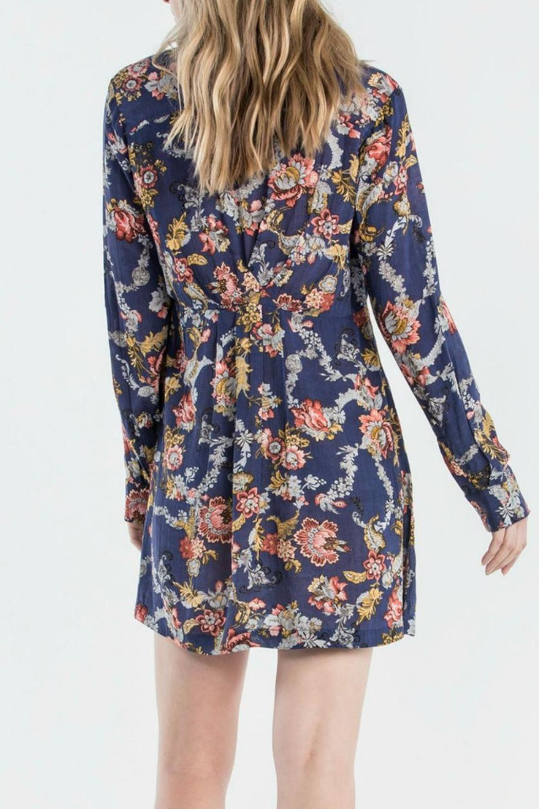 Miss Me Floral Shirt Dress - Side Cropped Image