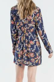 Miss Me Floral Shirt Dress - Side cropped