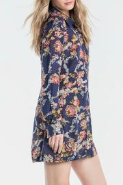 Miss Me Floral Shirt Dress - Front full body