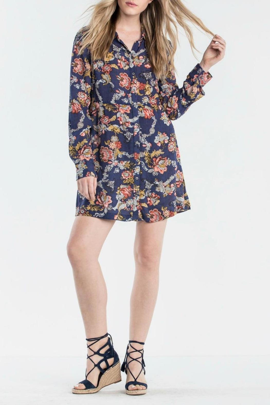 Miss Me Floral Shirt Dress - Main Image