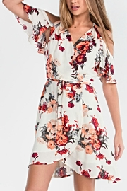 Miss Me Floral Wrap Dress - Front cropped