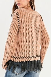 Miss Me Fringe Knit Sweater - Side cropped