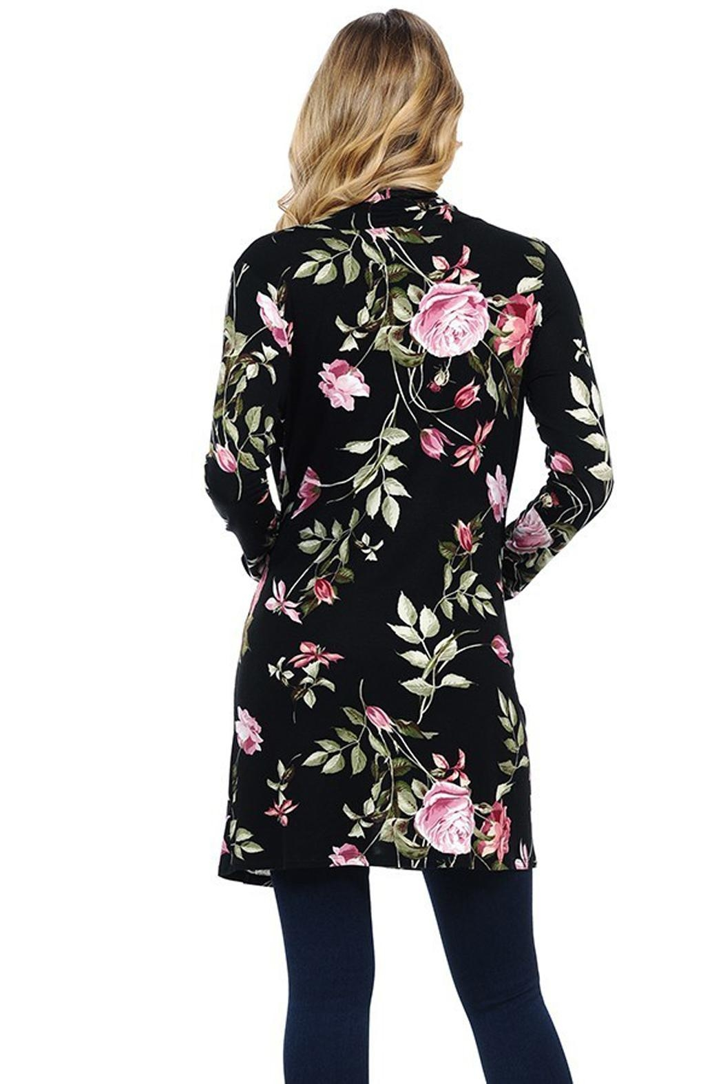 LUNA Beautiful Floral Cardigan - Front Full Image